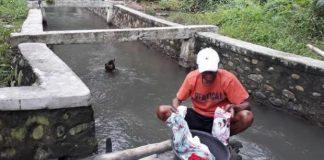 Tampak Aktifitas MCK Warga Togid Dusun VI