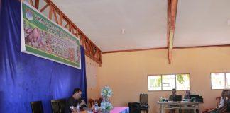 Sekretaris Daerah saat memberikan arahan pada pembukaan kegiatan pelatihan sambung pucuk dan sambung samping tanaman kakao