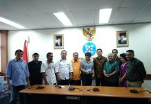 Foto Bersama Ketua Dewan Pers Saat Menjamu Ketua IWO dan Tim Perumus AD/ART di Gedung Dewan Pers Jakarta Pusat